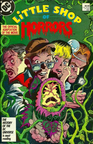 Little Shop of Horrors (1987) #1, cover penciled by Gene Colan & inked by Dave Hunt.