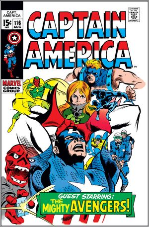 Captain America (1968) #116, cover penciled by Gene Colan & inked by Joe Sinnott