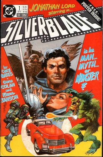Silverblade (1987) #1, cover penciled by Gene Colan & inked by Neal McPheeters.