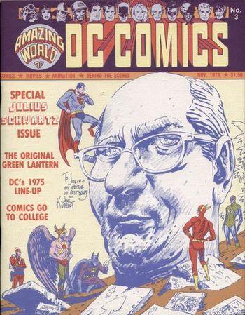 Amazing World of DC Comics (1974) #3, cover by Joe Kubert.