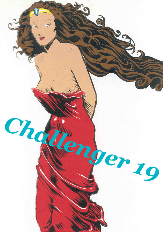 Challenger (1993) #19, cover by Ned Dameron. Edited by Guy Lillian.