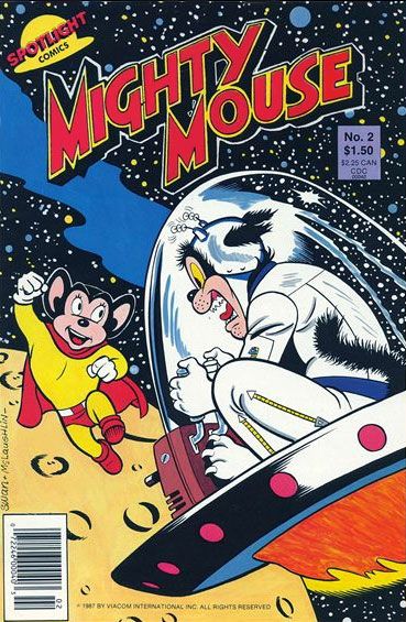 Mighty Mouse (1987) #2, cover penciled by Curt Swan & inked by Frank McLaughlin.