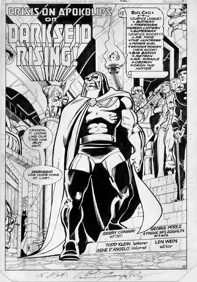 Justice League of America (1960) #185, interior page penciled by George Perez & inked by Frank McLaughlin.