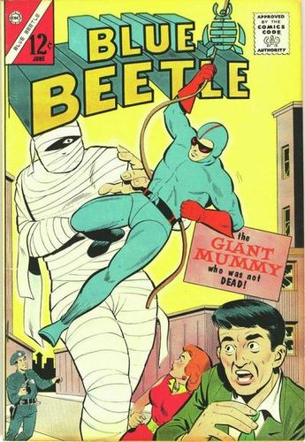 Blue Beetle (1964) #1, cover by Frank McLaughlin.
