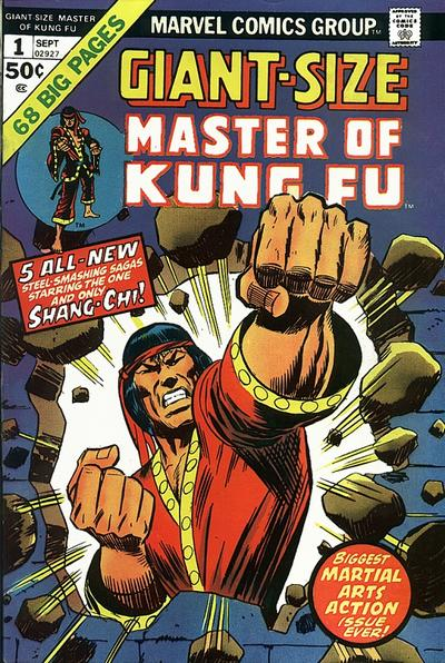 Giant-Size Master of Kung Fu (1974) #1, featuring a story written by Frank McLaughlin.