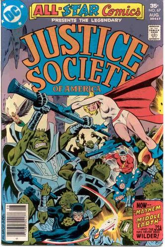 All-Star Comics (1940) #67, cover by Al Milgrom.