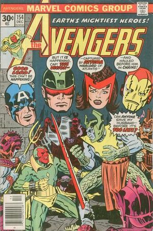 Avengers (1963) #154, cover penciled by Jack Kirby & inked by Al Milgrom.