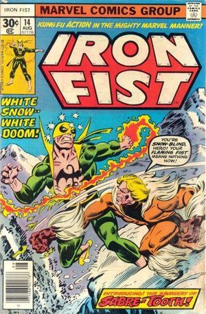 Iron Fist (1975) #14, cover penciled by Dave Cockrum & inked by Al Milgrom.