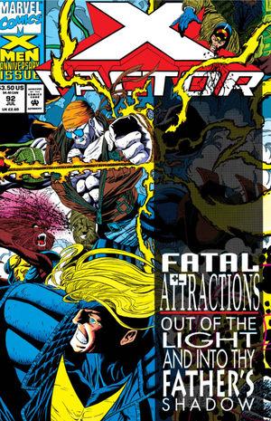 X-Factor (1986) #92, cover penciled by Joe Quesada & inked by Al Milgrom.
