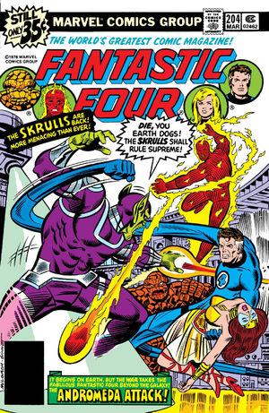 Fantastic Four (1961) #204, cover penciled by Al Milgrom & inked by Joe Sinnott.