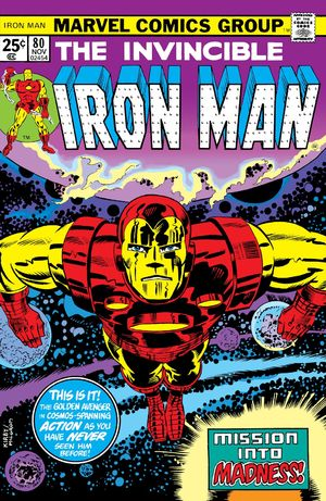 Iron Man (1968) #80, cover penciled by Jack Kirby & inked by Al Milgrom.