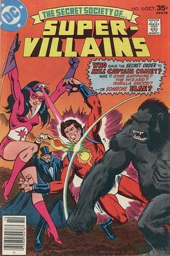 Secret Society of Super-Villains (1976) #10, cover penciled by Al Milgrom & inked by Jack Abel.