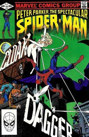 Peter Parker, The Spectacular Spider-Man (1976) #64, cover penciled by Ed Hannigan & inked by Al Milgrom.