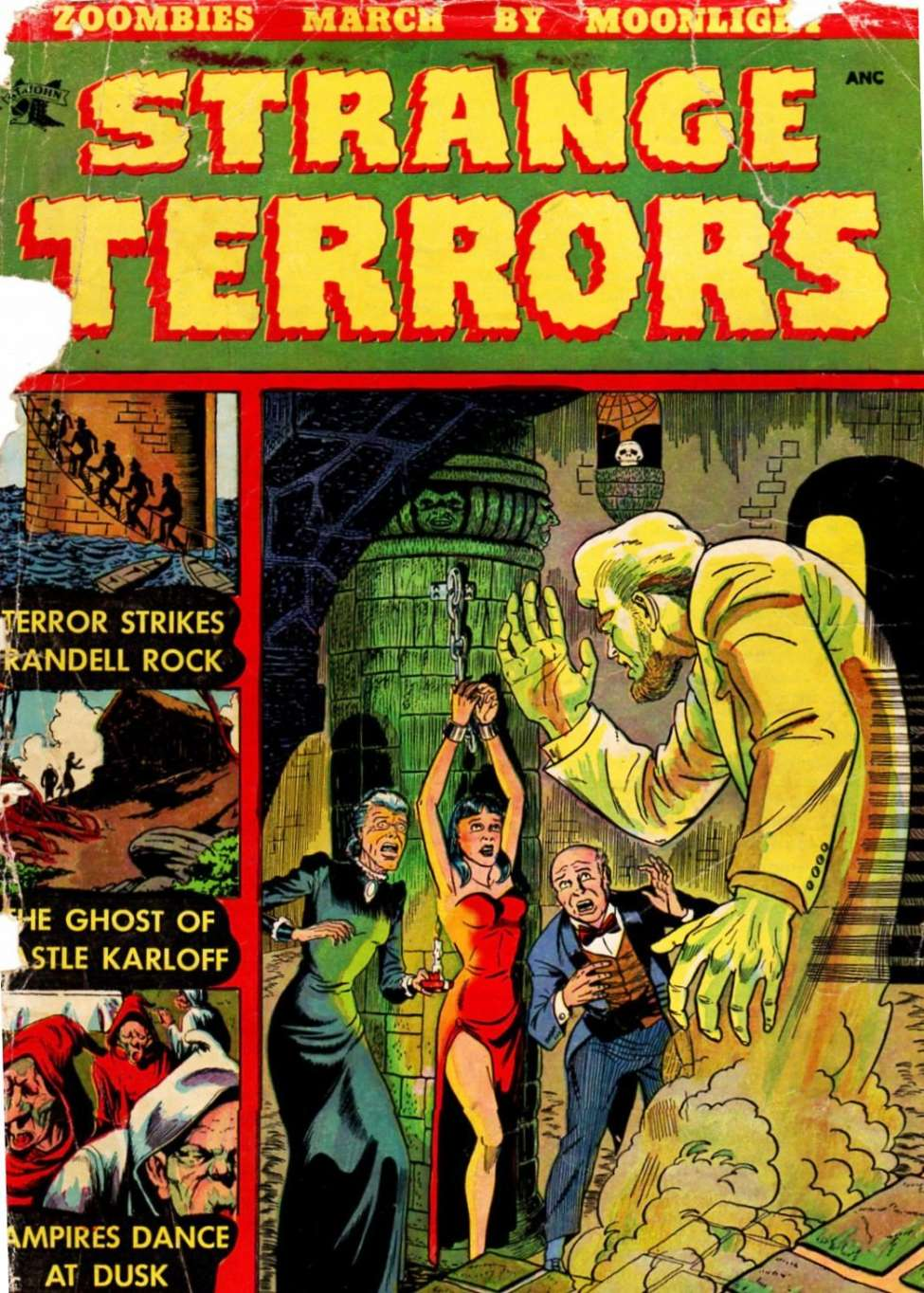 Strange Terrors (1952) #1, cover by Don Perlin.