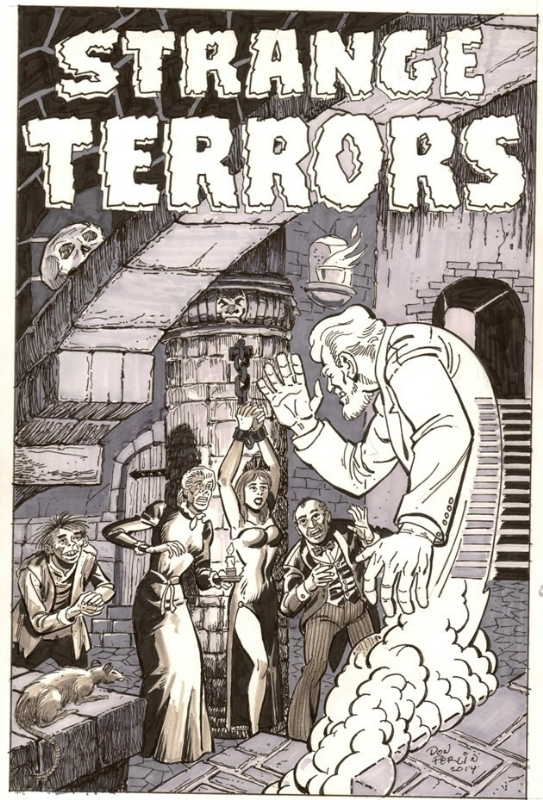 Strange Terrors (1952) #1  Cover Recreation commission done by Don Perlin in 2014.