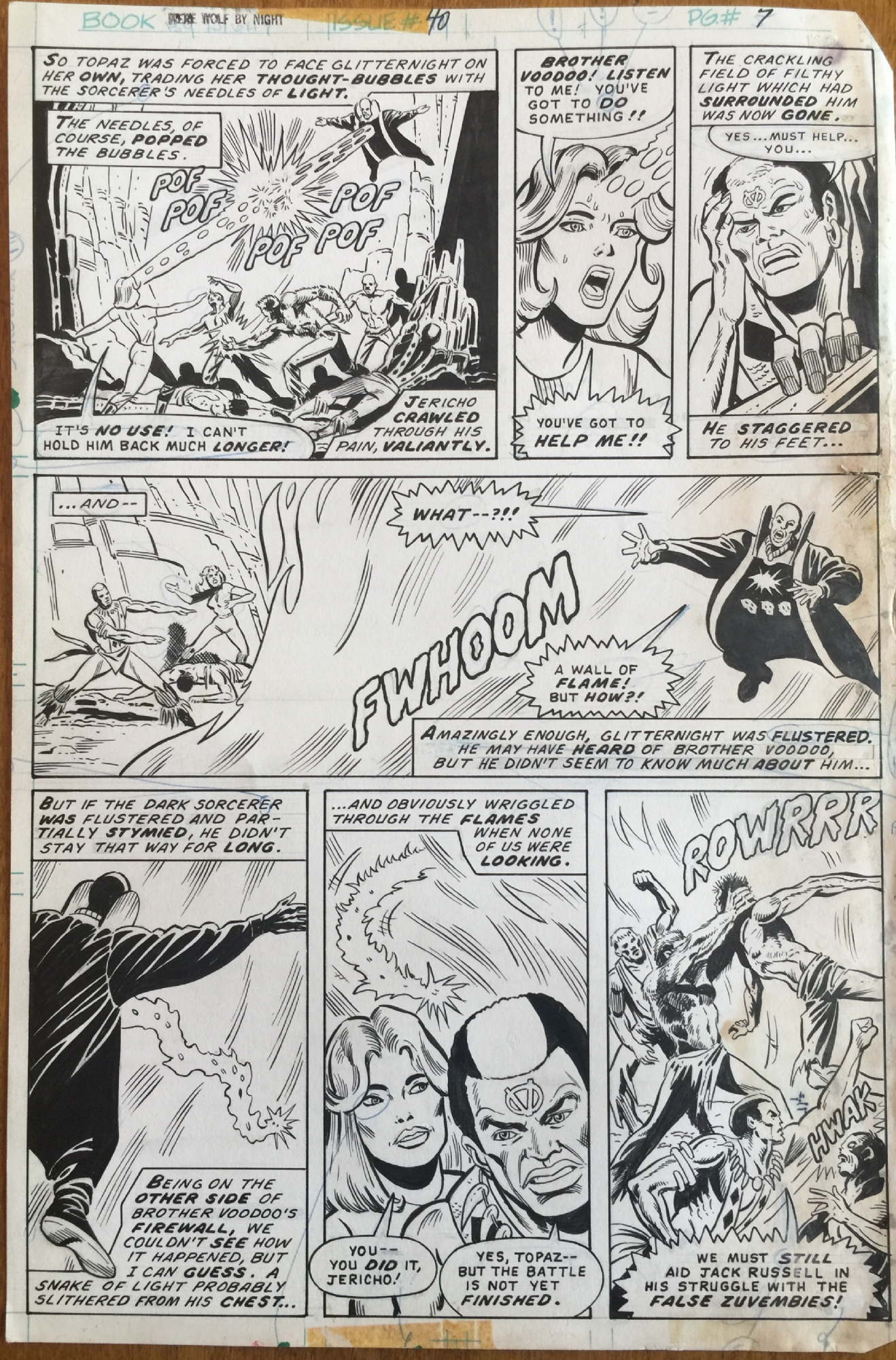 Werewolf By Night (1972) #40 pg7, penciled & inked by Don Perlin.