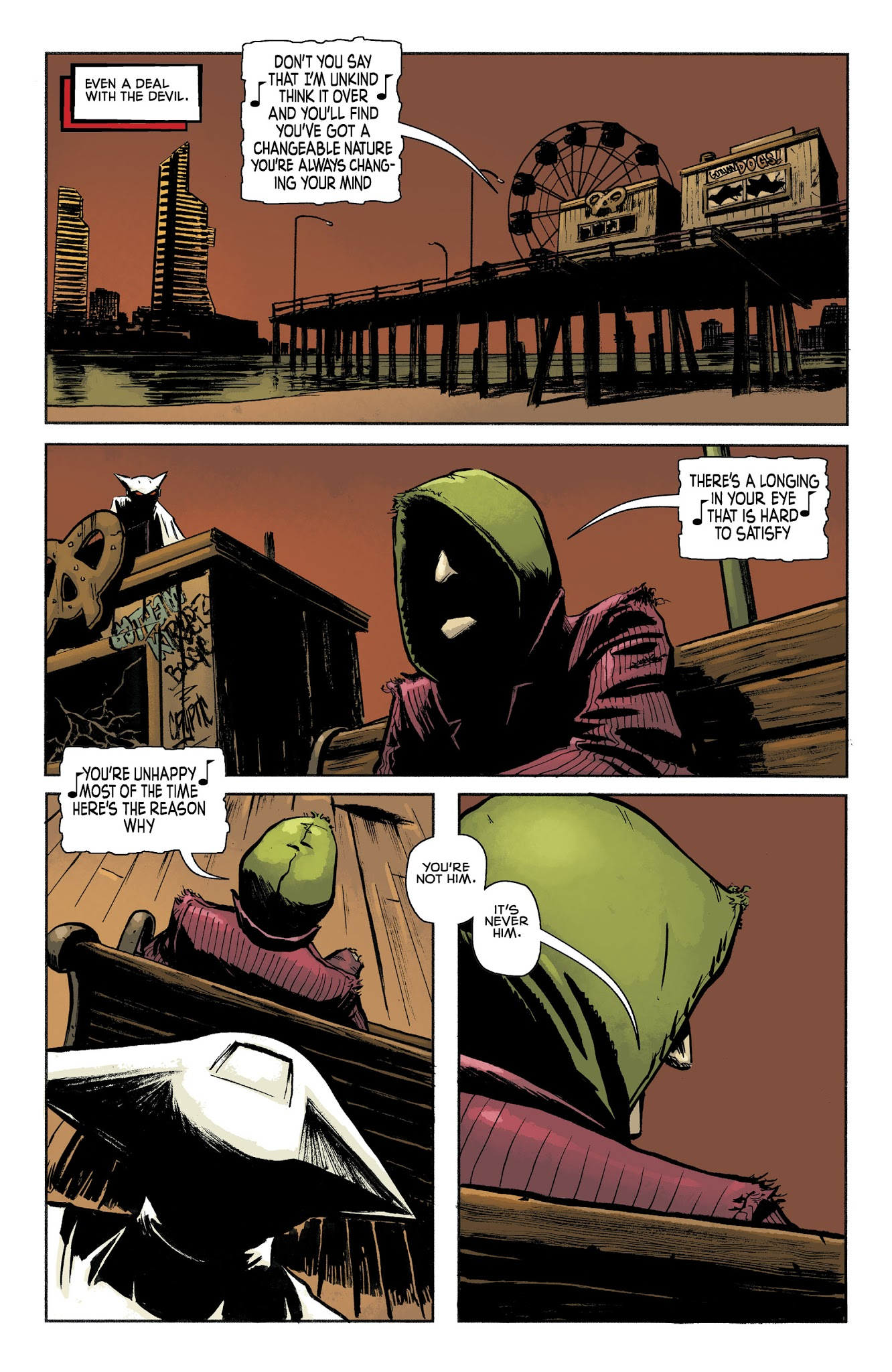 Mother Panic Gotham A.D. (2018) #1 pg18, lettered by John Workman.