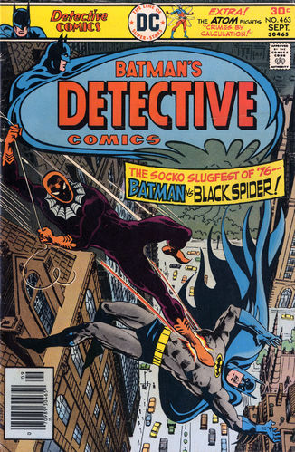 Detective Comics (1937) #463, cover by Ernie Chan, lettered by John Workman.