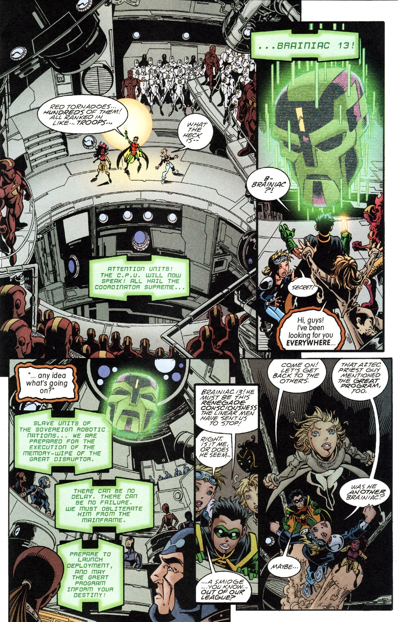 Young Justice: Our Worlds At War (2001) #1 pg14, lettered by John Workman.