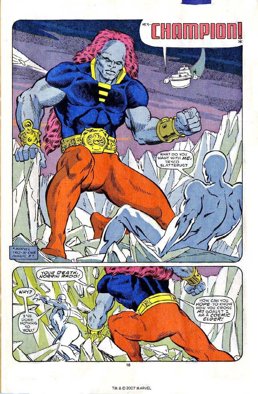 Silver Surfer (1987) #1 pg10, lettered by John Workman.