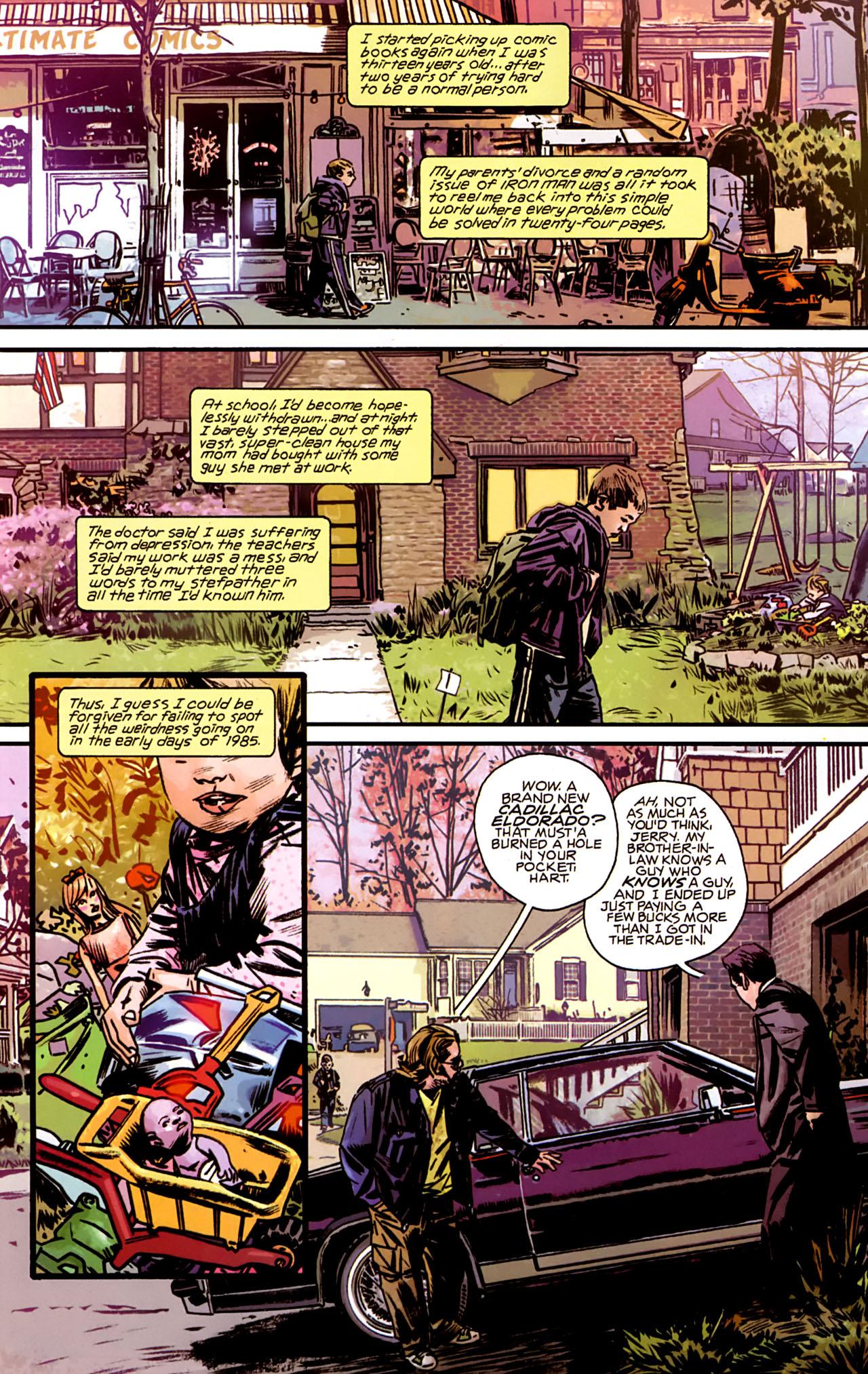 Marvel 1985 (2008) #1 pg6, lettered by John Workman.