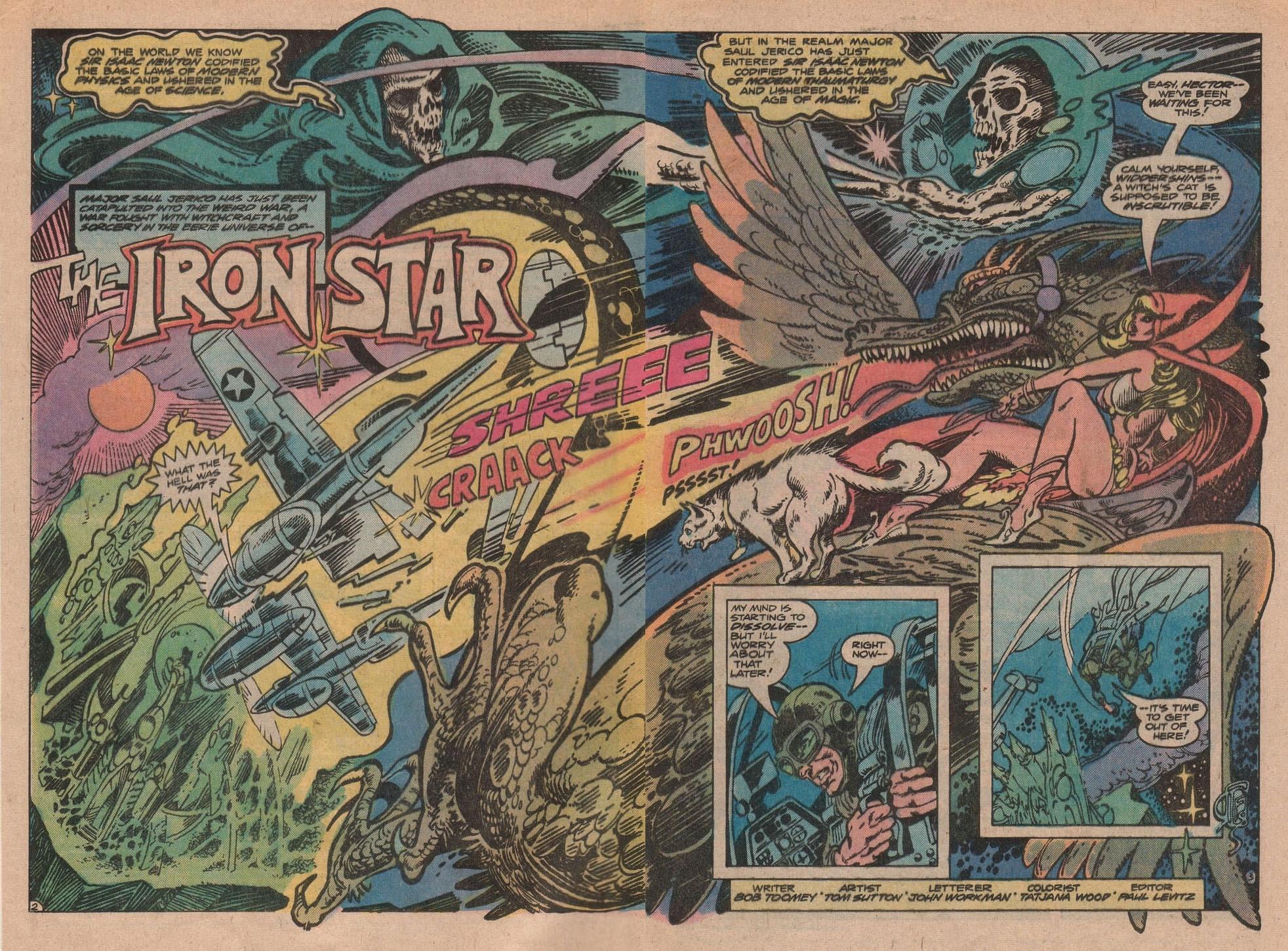 Weird War Tales (1971) #66 pg2-3, lettered by John Workman.