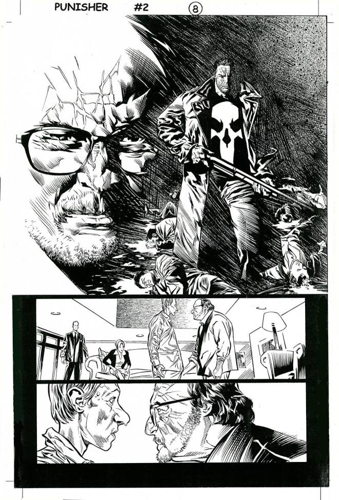Punisher (2004) #2 pg8, penciled by Lewis LaRosa & inked by Tom Palmer.