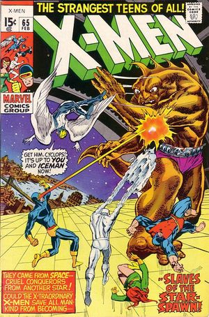 X-Men (1963) #65, cover penciled by Neal Adams & inked by Tom Palmer.