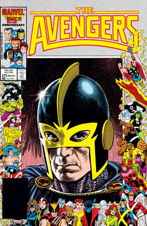 Avengers (1963) #273, cover penciled by John Buscema & inked by Tom Palmer.