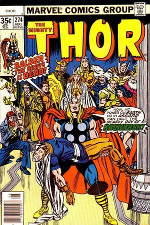 Thor (1966) #274, cover penciled by John Buscema & inked by Tom Palmer.