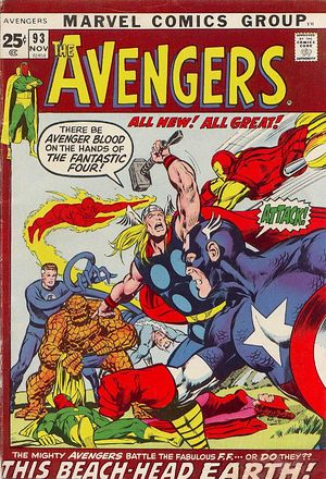 Avengers (1963) #293, cover penciled by Neal Adams & inked by Tom Palmer.