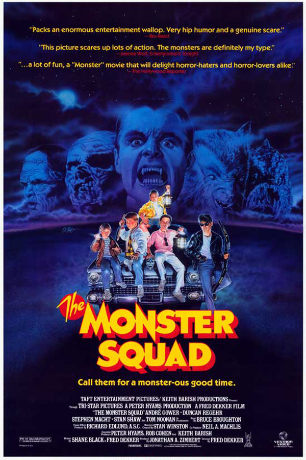 The Monster Squad  movie poster, featuring art from  Craig Nelson .