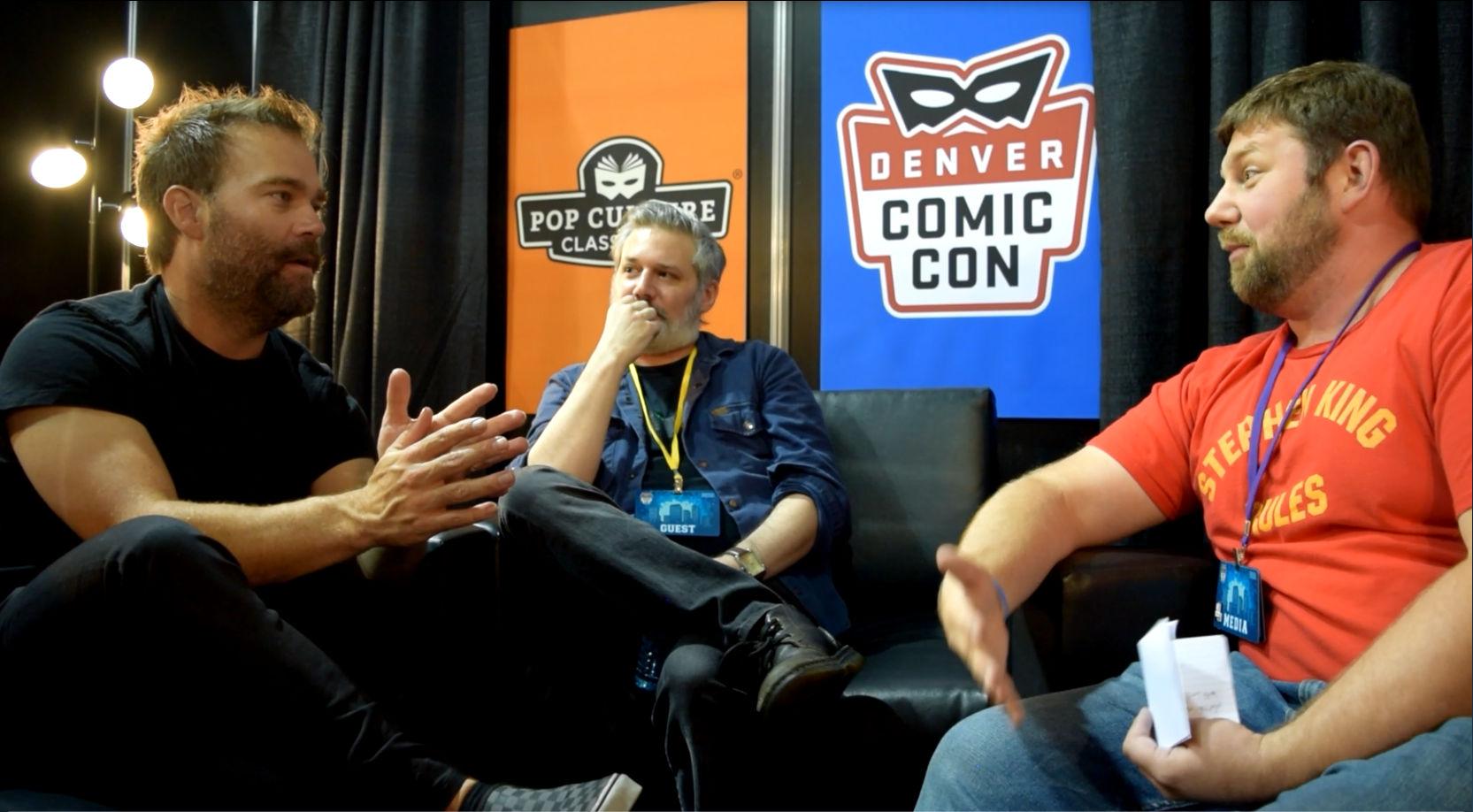 Andre Gower ,  Ryan Lambert , &  Abrahm Akin  at Denver Comic Con 2018.
