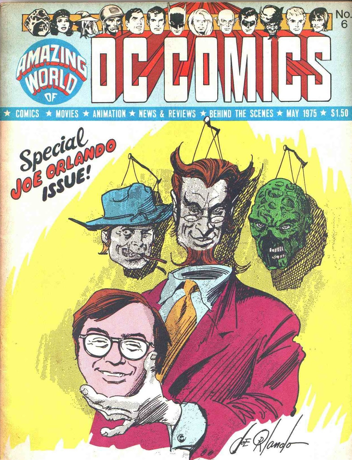 Amazing World of DC Comics (1974) #6, featuring an interview with Joe Orlando given by Paul Levitz.