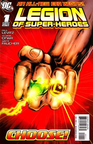 Legion of Super-Heroes (2010) #1, written by Paul Levitz.
