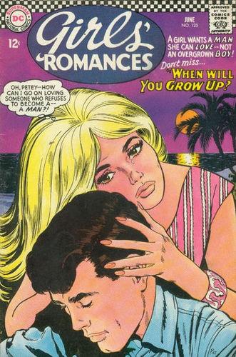 Girls' Romances (1950) #125, cover by Jay Scott Pike.