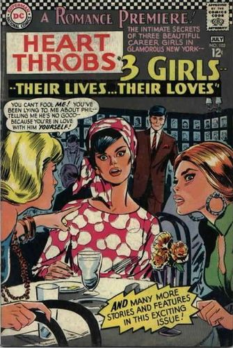 Heart Throbs (1949) #102, cover by Jay Scott Pike.