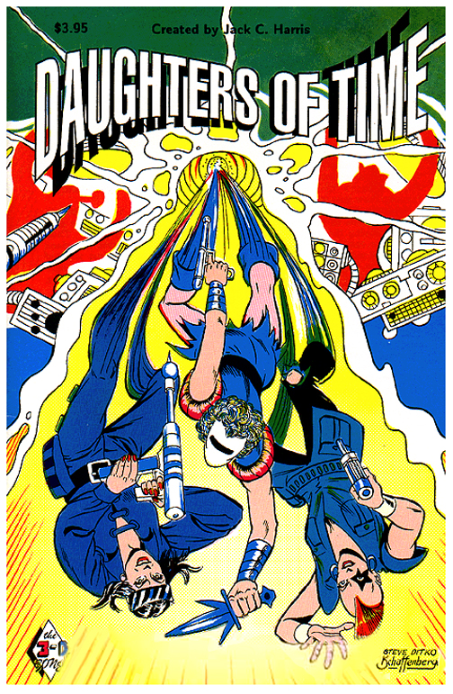 Daughters Of Time (1991) #1, cover by Steve Ditko & Kurt Schaffenberger - written by Jack C Harris.