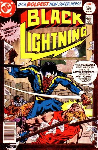 Black Lightning (1977) #1, cover by Rich Buckler & Frank Springer. Edited by Jack C Harris.
