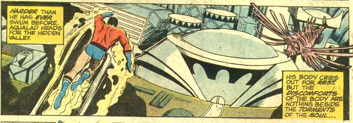 Adventure Comics (1938) #454, interior panel penciled by Carl Potts & inked by Dick Giordano.
