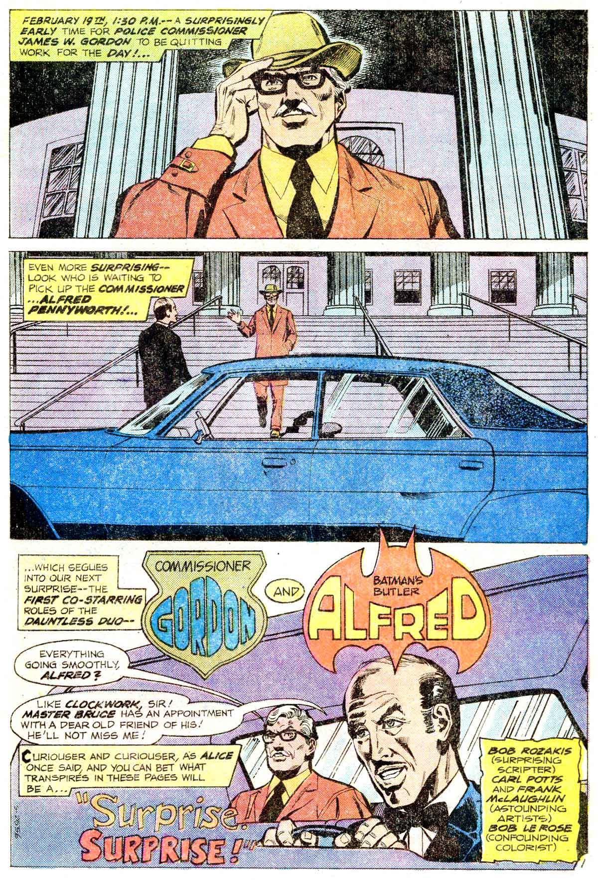 Batman Family (1975) #11, interior page penciled by Carl Potts & inked by Frank McLaughlin.
