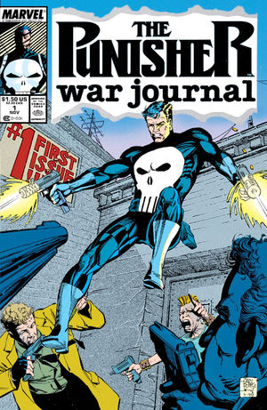 Punisher War Journal (1988) #1, cover by Carl Potts & Scott Williams.