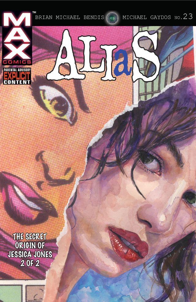 Alias (2001) #23, cover by David Mack.