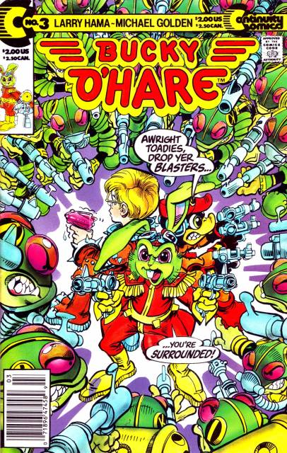 Bucky O'Hare (1991) #3, by Larry Hama & Michael Golden.