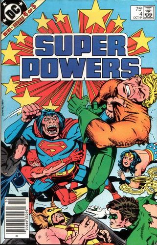 Super Powers (1984) #4, cover penciled by Jack Kirby & inked by Greg Theakston.