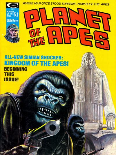 Planet of the Apes (1974) #9, cover by Greg Theakston.
