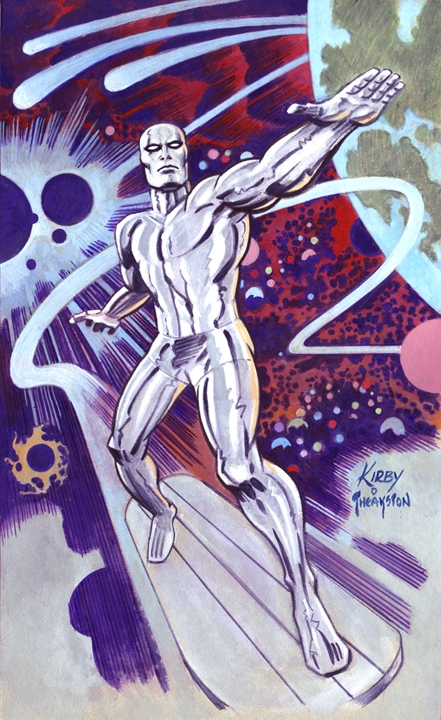 Silver Surfer, drawn by Greg Theakston (in the style of Jack Kirby)