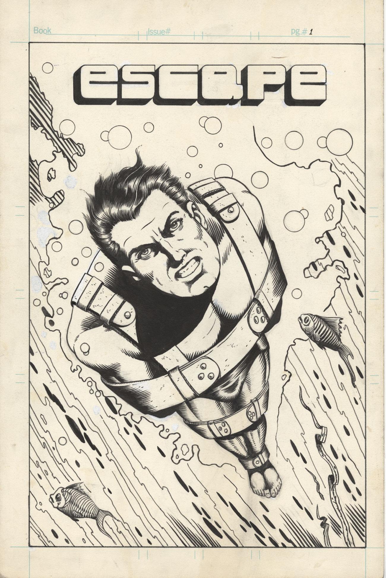 Escape (1973) cover by Greg Theakston.