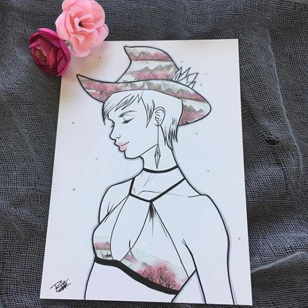 Inktober 2018 Witches - Day 16 by Rio Burton.