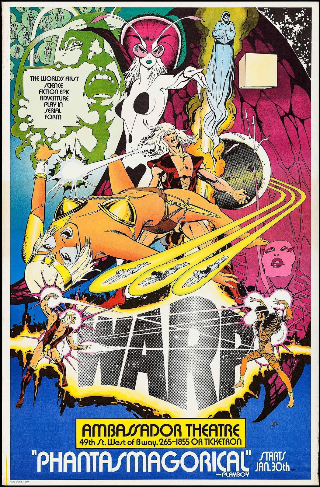 Poster for  Warp!  done by Neal Adams.